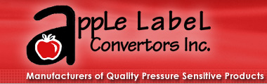 Apple Label Converter, Inc. - Manufacturer of Quality Pressure Sensitive Products